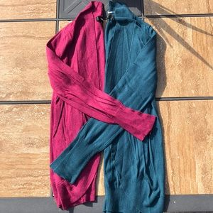 LNWOT bundle !! 2 knit open cardigans